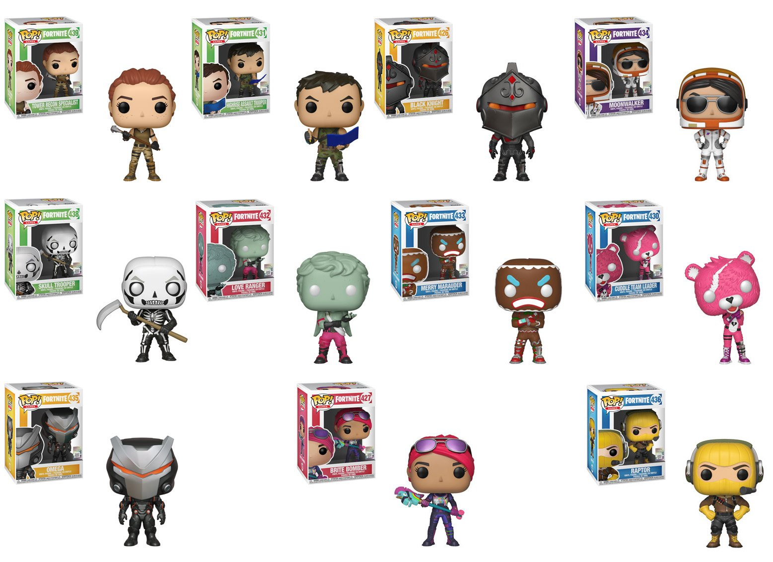 this wave also has three exclusive fortnite funkos crackshot which is exclusive to walmart red nosed raider which is exclusive to gamestop eb games - fortnite game xbox one gamestop
